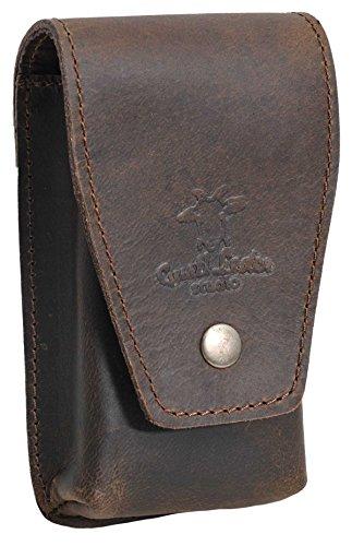 Gusti Leder studio 'Dylan' porta sigari per 2 sigari tabacco cartine unisex marrone scuro 2A87-26-53