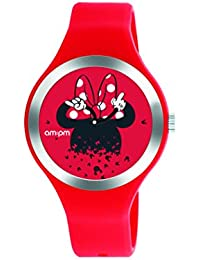 Disney Minnie Mouse reloj de la mujer por AM  PM dp155-u535 rojo correa 418db3b42905