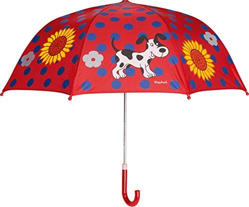 Playshoes Mädchen Regenschirm Kinder große Punkte, Einfarbig, Gr. One size, Rot (original 900)