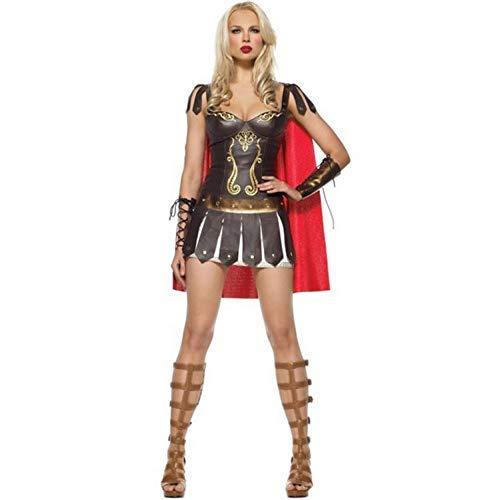 LBFKJ Cosplay, Mantello della dea Greca di Halloween Gladiatore, Costume da Samurai, Wonder Woman, Uniforme da Gioco, Accessori per Mascherata M