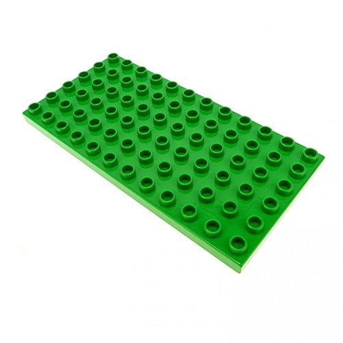 1 x Lego Duplo Bau Platte hell grün 12 x 6 Noppen 4196 (Lego Duplo Bau)