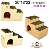 Willlly Hedgehoghouse Maison d'hiver avec Sol hérisson Petite Maison Totoro et Hamster Fournitures pour Animaux de Compagnie, 4, 30x18x23