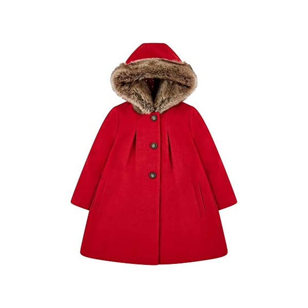 Mothercare Flow Wool Blend Coat with Hood Red Abrigo para Bebés 1