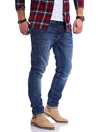 JACK & JONES Vaqueros para Hombre Jeans Glenn ARIS Slim Fit Stretch Pantalones (W34 L34, Dark Blue Denim)