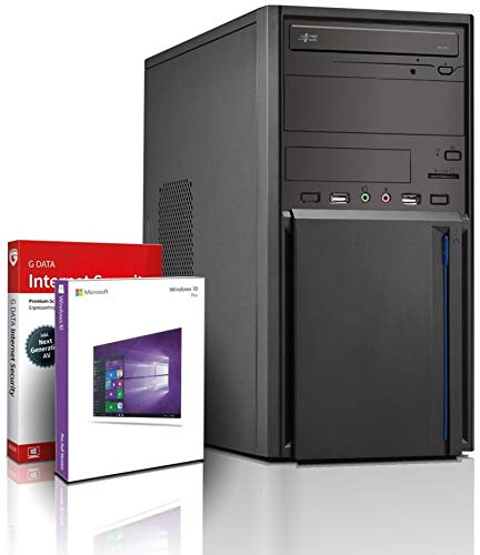 Intel i5 Entry Gaming/Multimedia Computer mit 3 Jahren Garantie! | Intel i5 4570 4X 3.6 GHz | 16GB | 480GB SSD | Intel HD 4600 | USB3 | DVD±RW | Win10 64-Bit | MS Office 2010 Starter | GDATA | #5996