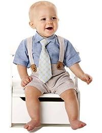 Mud Pie Baby Boy 3-Piece Seersucker Set (6-9 months)