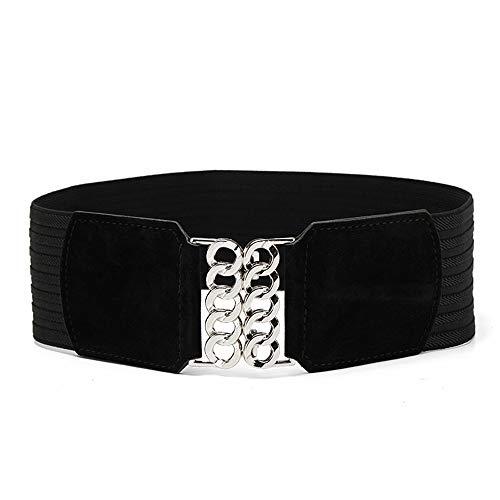 LIUXINDA-YD Hochwertiger Gürtel, elastischer, elastischer, schlanker, weit geschlossener...