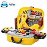 FunBlast Tool Set Toys For Kids, Pretend Play Set Kit With Wheel, Little Engineer Pretend Toolbox Construction Tools, Role Play Engineer Workshop Tool Kit