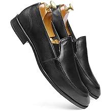one8 Select by Virat Kohli Men's Black Leather Formal Loafer