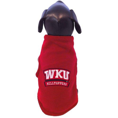 NCAA Western Kentucky Hilltoppers ärmellos Polar Fleece Hund Sweatshirt, Herren, rot (Kapuzen-pullover Collegiate)