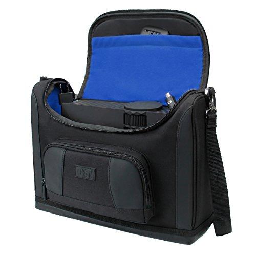 Maletín Portátil, Tablet con divisores interiores customizables y bolsillos para accesorios – S7 Pro perfecto para Portatiíles, tablets y pequeños proyectores. Color Azul.