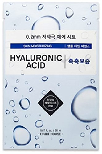 Masque hydratant etude House 0. 2 Therapy Air Mask : Hyaluronic Acid (Pack de 2)