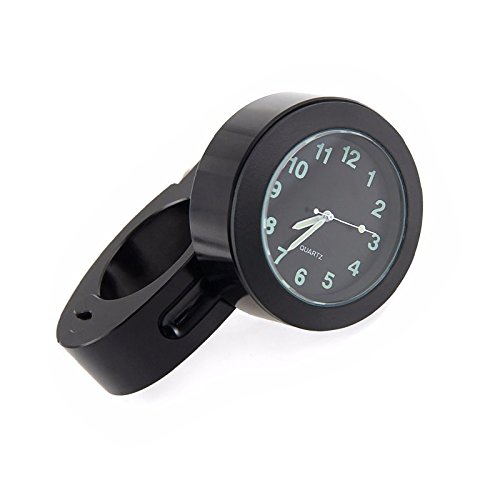 Lakote Schwarz Bike Motorrad Lenker wasserdicht Mini Berg Dial Watch Clock