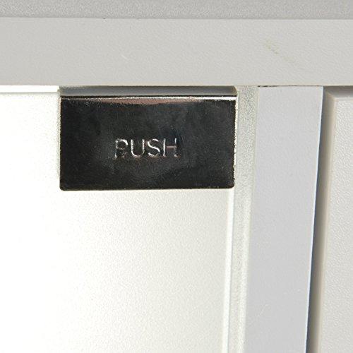 Waschbeckenunterschrank mit 3 Schubladen aus weißem Holz - 4