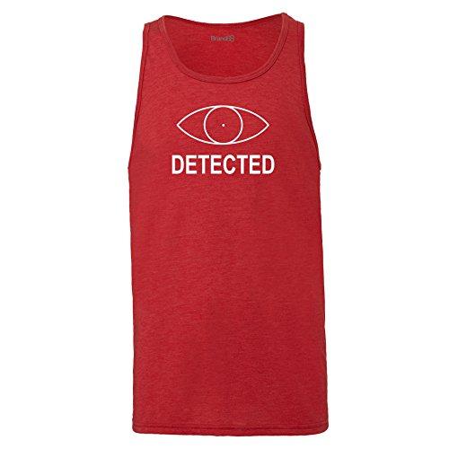 Brand88 - Detected, Unisex Jersey Weste Rot Meliert