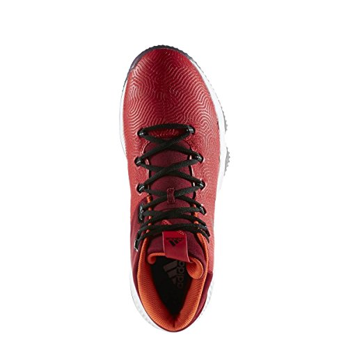 adidas Crazy Hustle, Chaussures de Basketball Homme Rouge (Escarl/negbas/buruni)