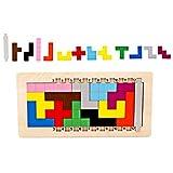 XiYuanShangMao Kind Kinder Holzpuzzle Tangram Denksportaufgabe Tetris Spiel Pädagogisches Spielzeug Übung logische denkfähigkeit der kinder (Multicolor)