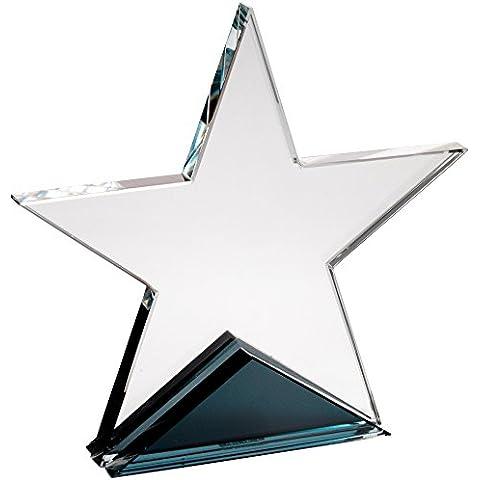 Star de cristal transparente Star Trophy–Placa para presentaciones y premios, , 5.75