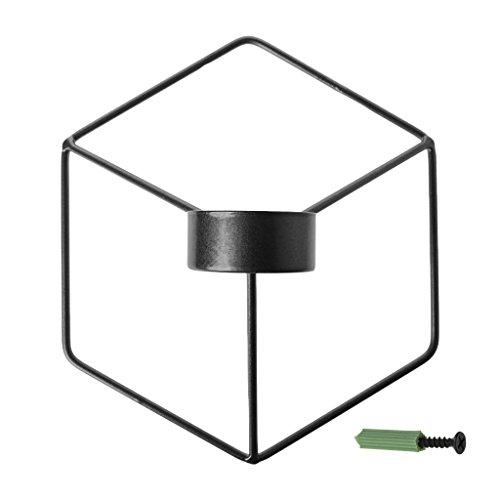 Candelabro colgante, estilo nórdico, soporte para velas de pared, estantería 3D de...