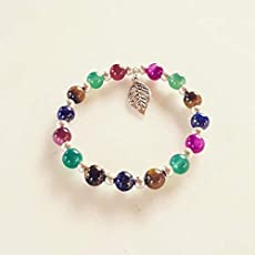 3c575a9a3904 pulsera hilos con rocallas color plata regulable: Amazon.es: Handmade