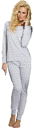 Merry Style Damen Schlafanzug 791 Melange-1A