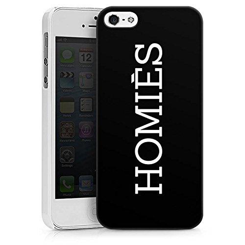 Apple iPhone X Silikon Hülle Case Schutzhülle Homies Schwarz-Weiß Statement Hard Case weiß