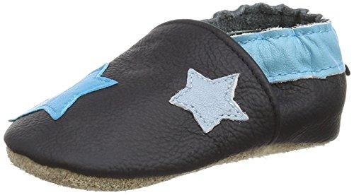 Freefisher Lauflernschuhe, Krabbelschuhe, Babyschuhe - in vielen Designs, Mehfarbig (Sterne Blau/Black), 12-18 Monate
