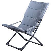 DOMI Madrid Relax Chair scomparsa da giardino Sedia a sdraio estate Patio Beach Sedia pieghevole portatile - grigio argento