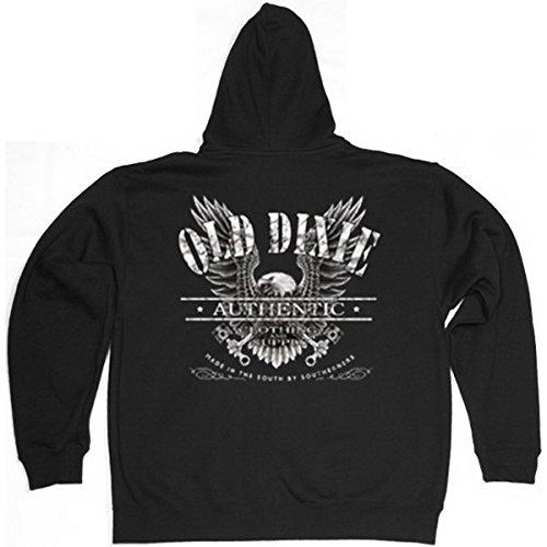 Adler Eagle Old Dixie Reißverschluss Kapuzenjacke Gr XXL in schwarz (Dixie Adler)