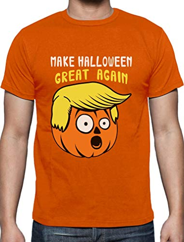 Witziges Geschenk Halloween Great Again T-Shirt Medium Orange