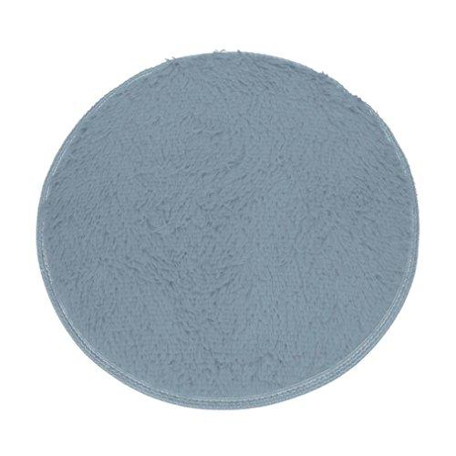 hunpta® Soft Bad Schlafzimmer Boden Dusche rund Teppich Matten Rutschfest grau - Bad-boden-matte-teppich