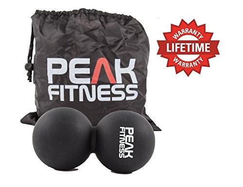 Palla per Massaggi Peak Fitness | Palla Lacrosse a forma di arachide per Massaggi Profondi dei Tessuti, Terapia per Trattamento Miofasciale e Punti Trigger | Garanzia Rimborso 100% | Gamma di colori