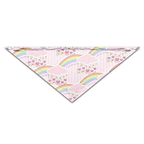 Cloud with Pink Dot Pet Dog Cat Puppy Bandana Triangle Head Scarfs Accessories -