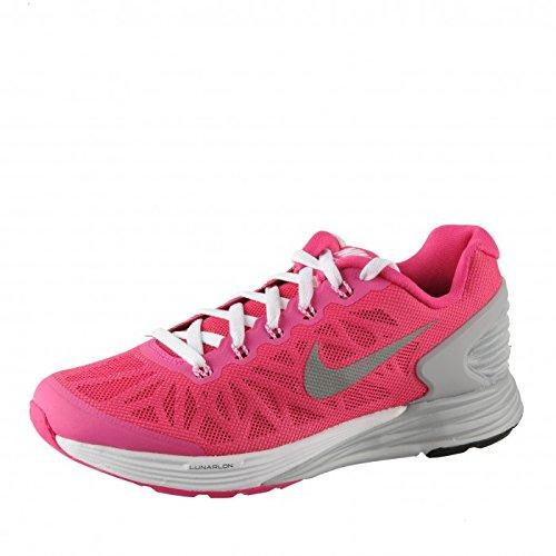 Nike Nike Unisex-Erwachsene Lunarglide 6 (Gs) Krabbelschuhe pink/grau 37.5 EU