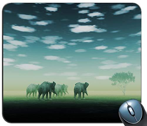 Yanteng Alfombrilla de ráton del patrón del espejismo de los Elefantes, Alfombrilla...