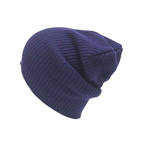 SEWORLD Heißer Einzigartige Einstellbare Solide Männer Frauen Mütze Stricken Ski Cap Hip-Hop Hüte Winter Warme Unisex Wolle Hut(Marine)