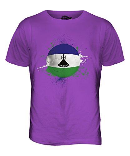 CandyMix Lesotho Calcio T-Shirt da Uomo Maglietta Viola