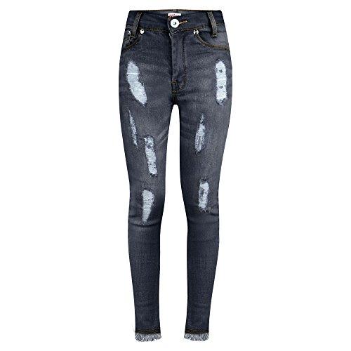 A2Z 4 Kids® Girls Stretchy Jeans Kids - Girls Jeans Ripped Black 9-10
