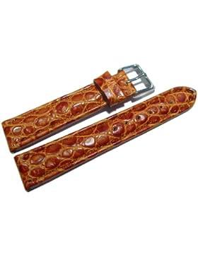 Uhrenarmband - Orig. Watchband Berlin - African - echt Leder - hellbraun - 20mm