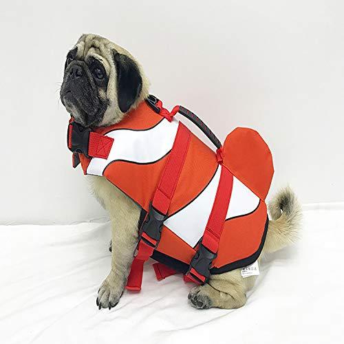 MMYXGS Rettungsweste Haustier Flotation Life Jacket Weste Hund Badeanzug Jacke und Hai Form S