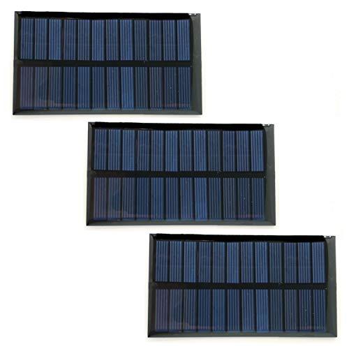 Homengineer 3X 6V Solarpanel, Photovoltaik mit Polysilikon Beschichtung für Wetterstation, Licht, Garten und Automatisierung f. Arduino Raspberry Pi etc.