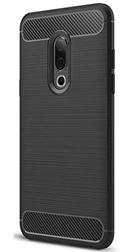 XINFENGDI Meizu 15 Plus Hülle, Tasche mit Stoßdämpfung Robuste TPU Stylisch Karbon Design Handyhülle Case Hülle für Meizu 15 Plus - Schwarz