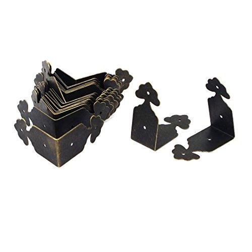 20STK. Antik L Form Hölzern Geschenkbox Winkelverbinder Kantenschutz 40mmx18mm