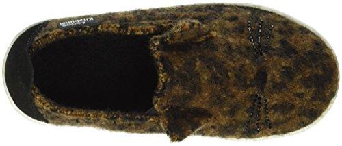Flache Kitzbühel leopard Hausschuhe Slip 235 Braun Mädchen Living on dqwIq1