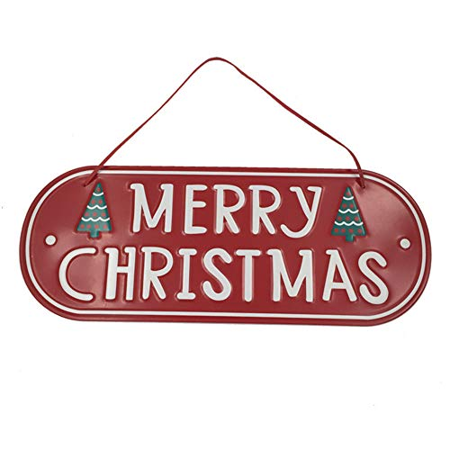 Hoveey 1 pcs de Noël Porte Ornements Décorations de Noël en métal Classique pour Tree-Red
