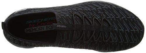 Skechers Flex Appeal 2.0-Insights, Allenatori Donna Nero (Black)