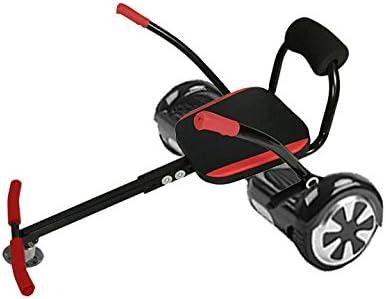 Patín niños eléctrico 2 ruedas + Asiento HoverKart (negro y rojo)