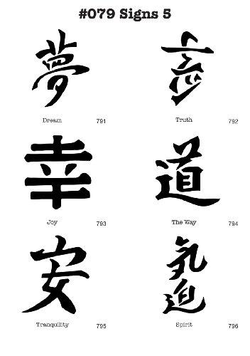 Airbrush-Schablonen MYLAR #079 Chinesische Zeichen ()
