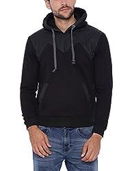 Campus Sutra Men Black Hoodie(AW16L_HLDR_M_PLN_BL_S)