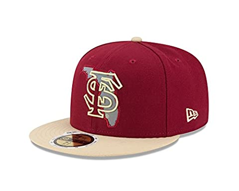 NCAA Florida State Seminoles Flective Redux 59FIFTY Fitted Cap, 7.5, Red